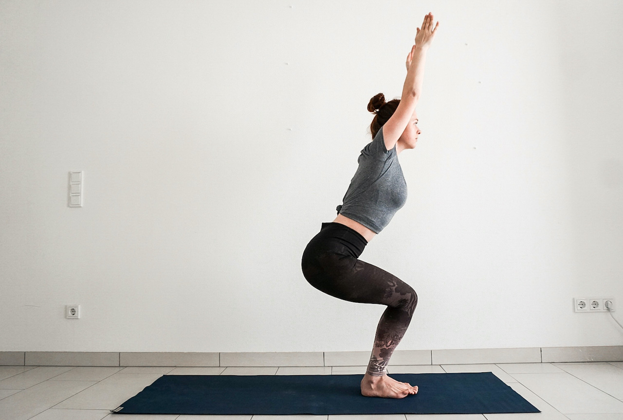 yoga poses for beginners - chair pose