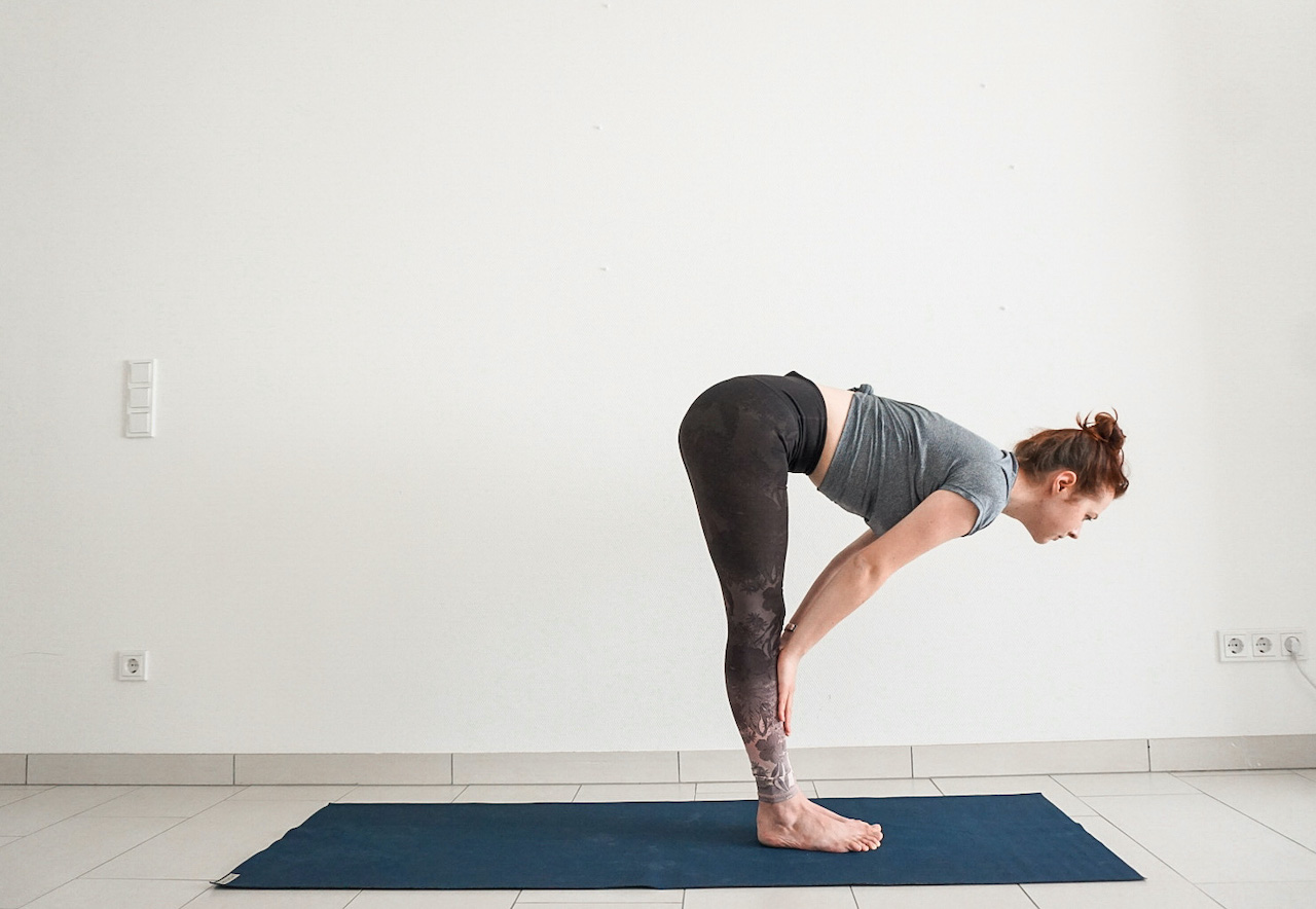 yoga poses for beginners - half forward bend