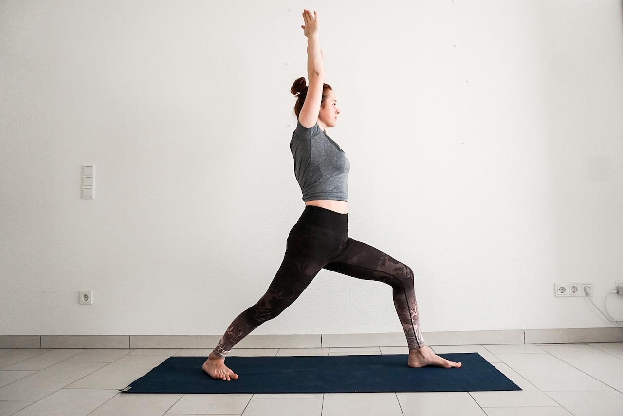 yoga poses for beginners - warrior I