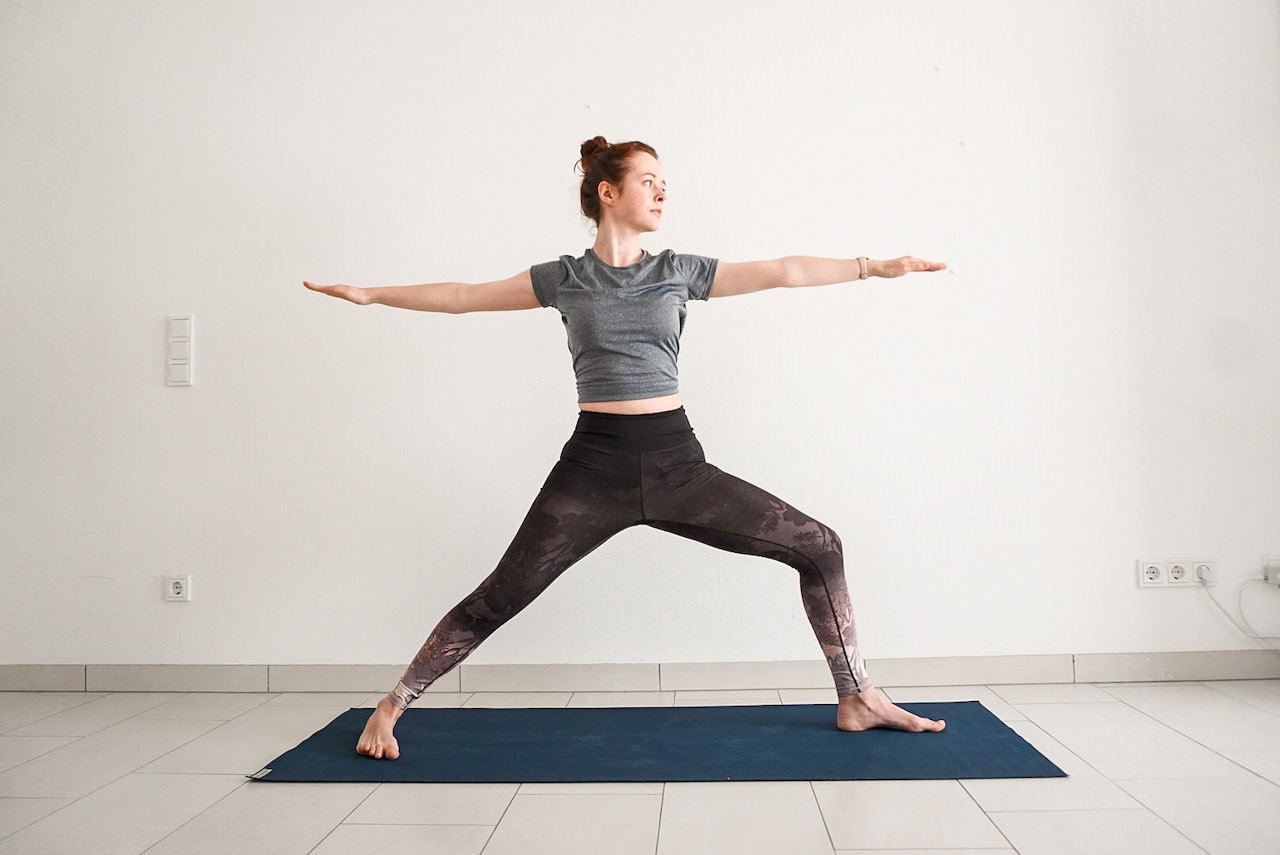 yoga poses for beginners - warrior two