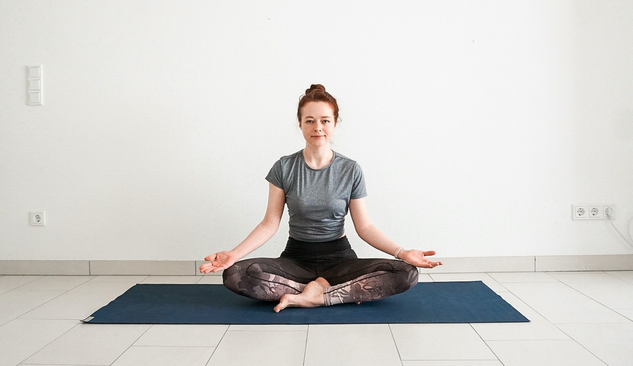 yoga poses for beginners - easy pose