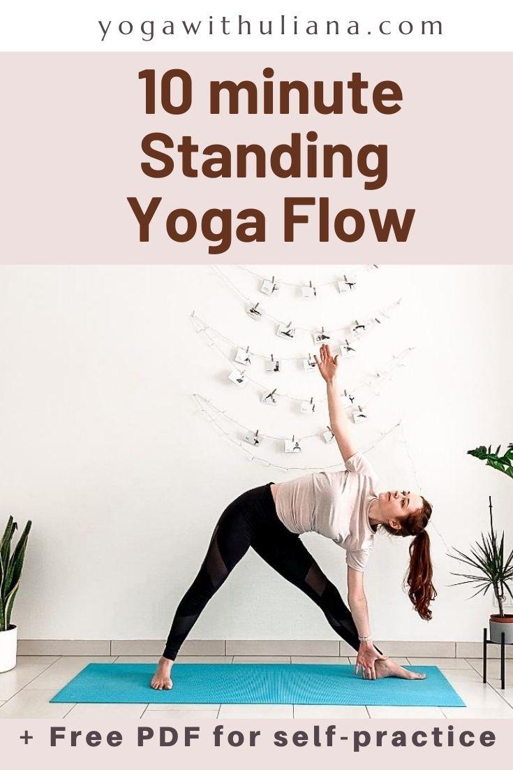 10 min Standing Yoga Flow PDF