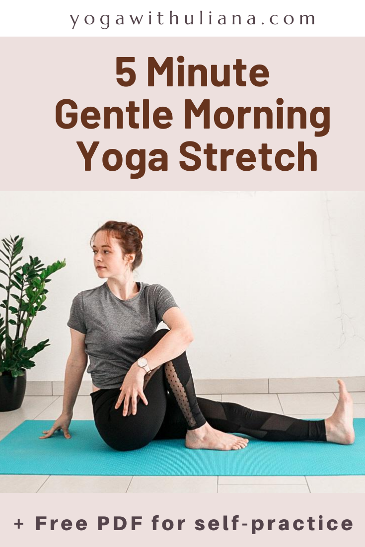 5 minute morning yoga stretch video and free pdf download