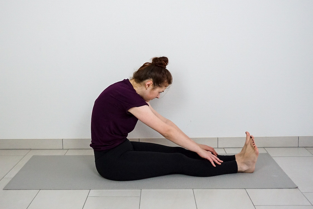 seated forward bend for beginners