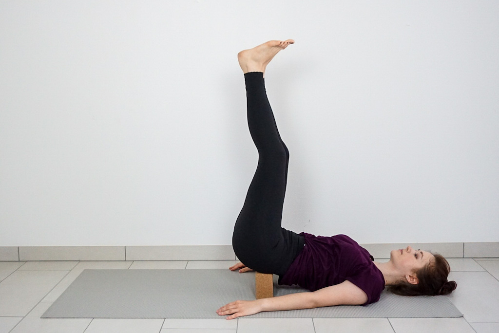supported shoulderstand for beginners