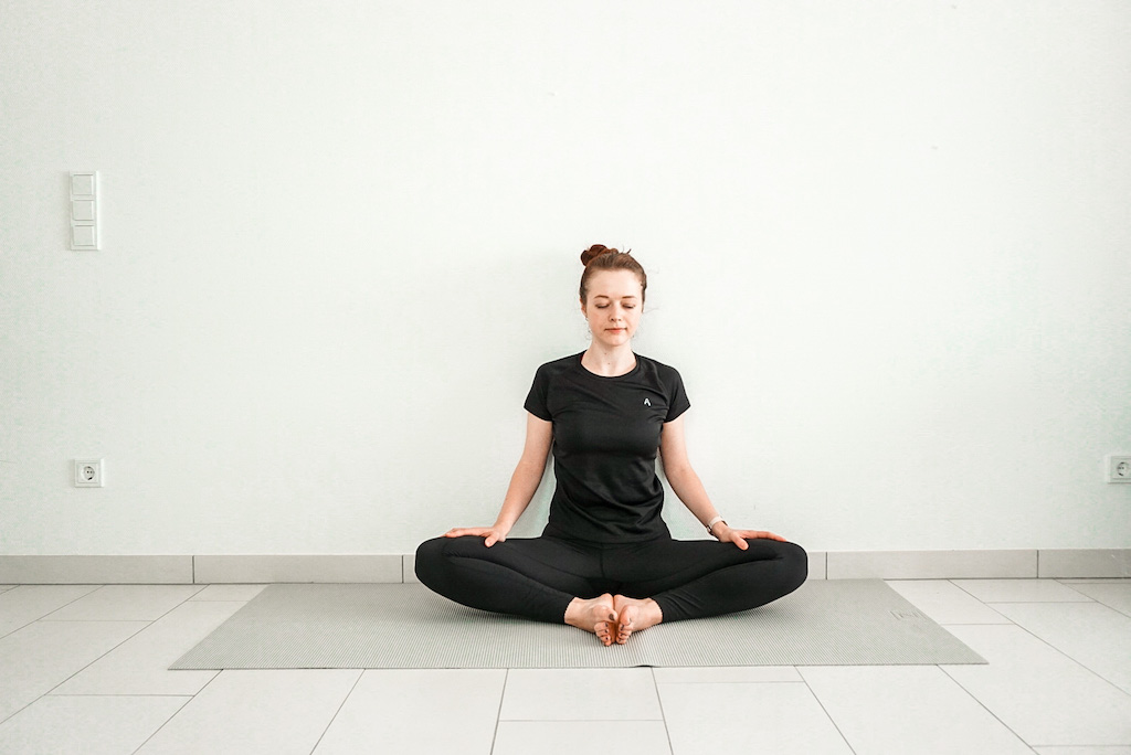 butterfly pose for beginners with wall