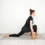 low lunge with yoga blocks for beginners