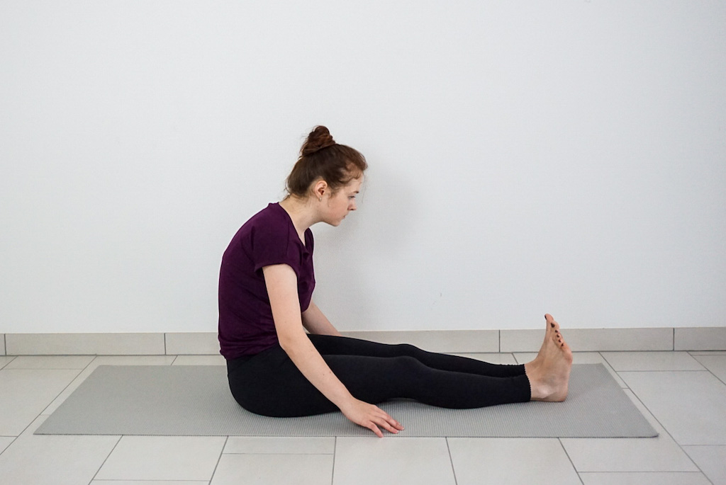 staff pose common yoga mistake