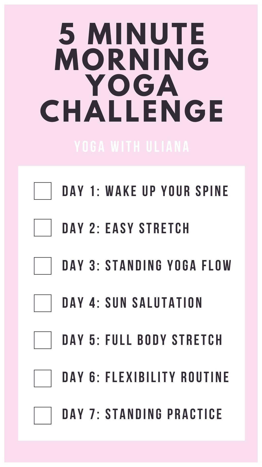5 minute morning yoga challenge