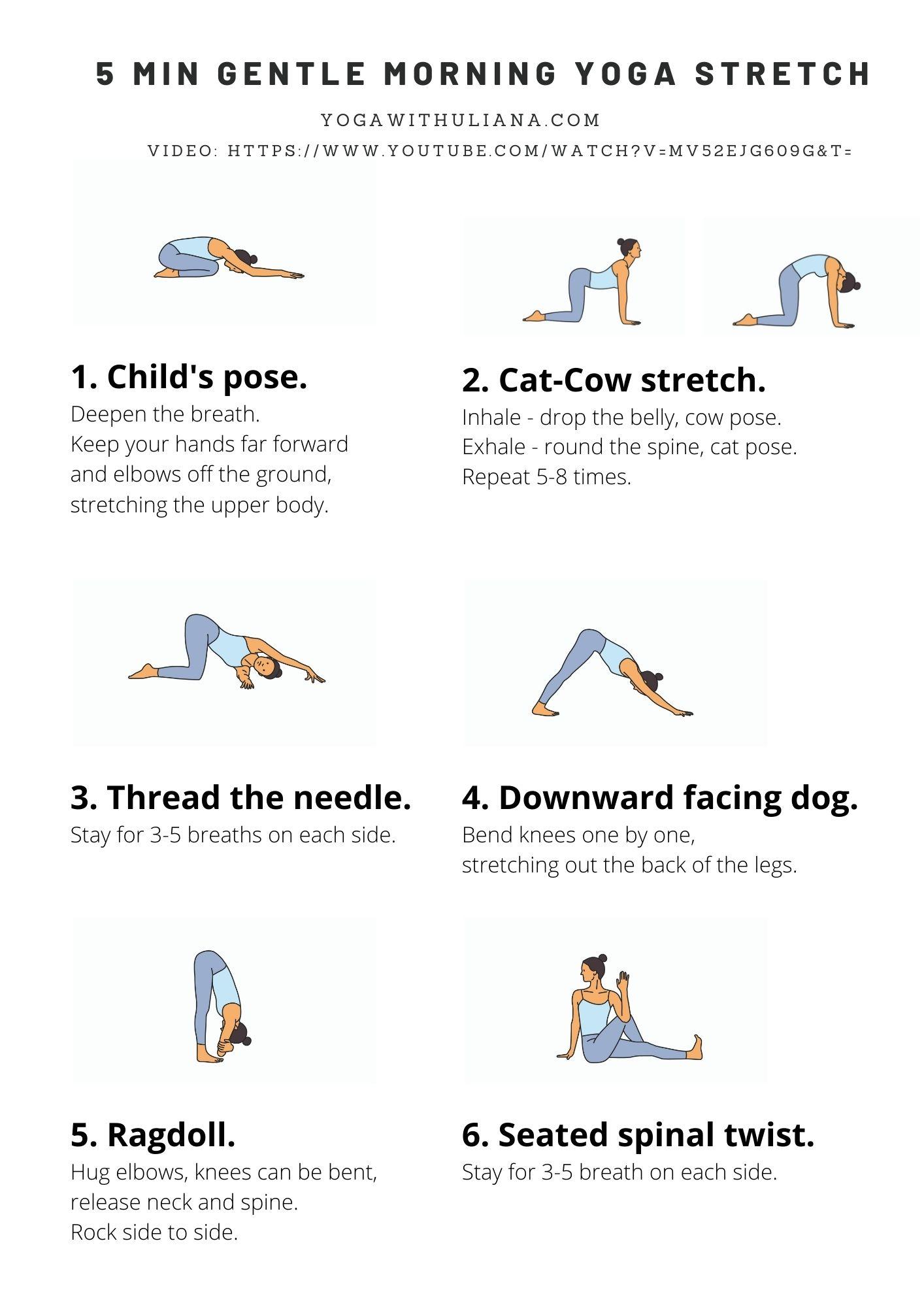 free yoga printables pdf